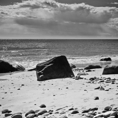 beach, fine art, black and white
