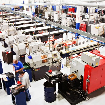 The Precision Products production floor by Barney Taxel.